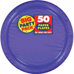 "New Purple 9"" Paper Plates - 50ct 
