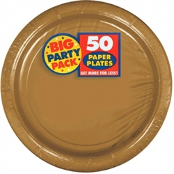 "Gold Paper 9"" Plates - 50ct. 