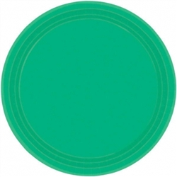 "Festive Green 9"" Paper Plates - 20ct 