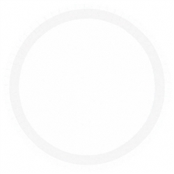 "Frosty White 9"" Paper Plates 