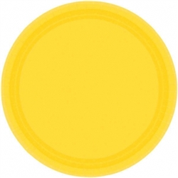 "Yellow Sunshine 9"" Paper Plates - 20ct 
