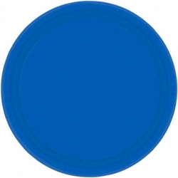 "Bright Royal Blue 9"" Paper Plates 