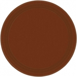 "Chocolate Brown Paper 9"" Plates - 20ct. 