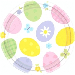 "Eggstravaganza Round 9"" Plates 