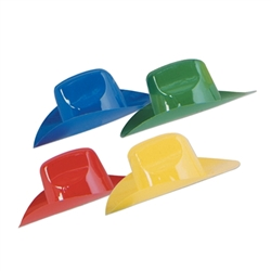 Packaged Miniature Plastic Cowboy Hats