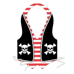 Packaged Plastic Pirate Vest