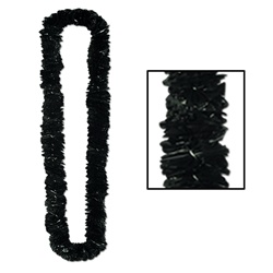Black Soft-Twist Poly Leis