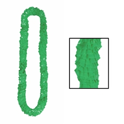 Green Soft-Twist Poly Leis