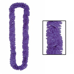 Purple Soft-Twist Poly Leis with UPC Tabs