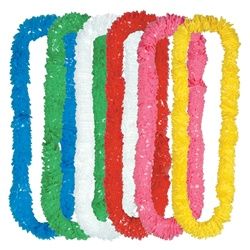 Assorted Soft-Twist Poly Leis with UPC Tabs