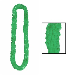 Green Soft-Twist Poly Leis with UPC Tabs