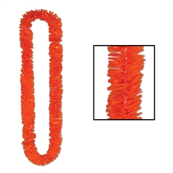 Orange Soft-Twist Poly Leis with UPC Tabs