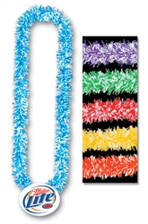 "36"" Soft-Touch Poly Leis with Custom Imprinted Paper Medallion"
