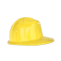 Miniature Yellow Plastic Construction Hat