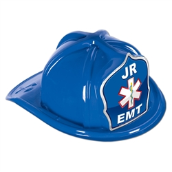 Blue Plastic Jr EMT Hat | Party Supplies