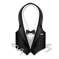 Packaged Plastic Tux Vest