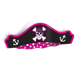 Printed Pink Pirate Hat