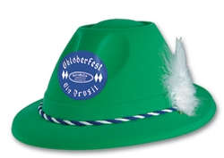 Green Custom Imprinted Tyrolean Style Hat