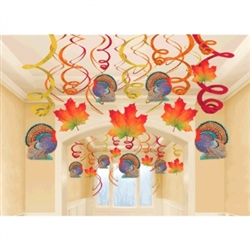 Thanksgiving Mega Value Pack Foil Swirl Decorations | Party Supplies