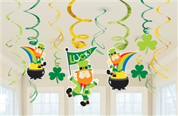 St. Patrick's Day Swirl Decoration Value Pack | Green Leprechaun Decorations