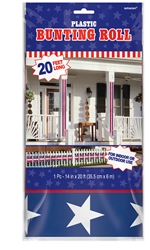 Patriotic Bunting Roll | Party Supplies