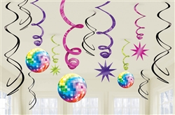 Disco Fever Value Pack Foil Swirl Decorations | Party Supplies