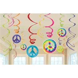 Feeling Groovy Foil Swirl Decorations | Party Supplies