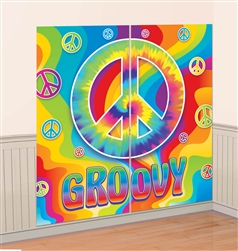 Feeling Groovy Scene Setters Wall Decorating Kit | Party Supplies