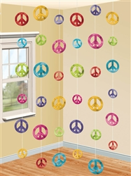 Feeling Groovy Classic 60's String Decorations | Party Supplies