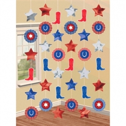 Bandana & Blue Jeans String Decorations | Party Supplies