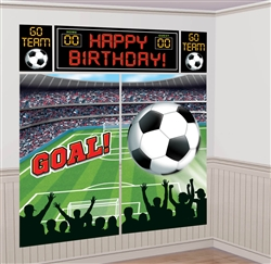 Soccer Scene Setters Wall Decorating Kit | Party Supplies