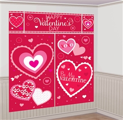 Valentine Scene Setters Wall Decorating Kit | valentines decorations