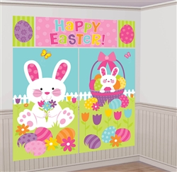 Easter Scene Setters Wall Decorating Kit | Party Supplies
