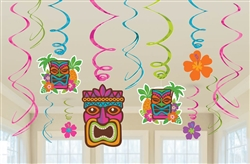 Tiki Value Pack Foil Swirl Decorations | Luau Party Supplies
