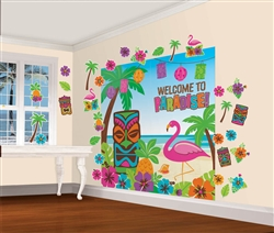 Luau Scene Setters Mega Value Wall Decorating Kit | Luau Party Supplies