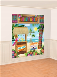 Tiki Scene Setters Wall Decorating Kit | Luau Party Supplies