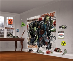 Zombie Scene Setters Mega Value Wall Decorating Kit | Party Supplies