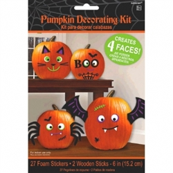 Pumpkin Decorating Kit - Cute Characters