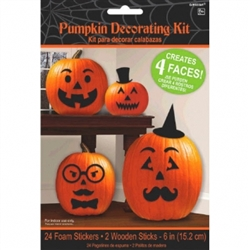 Foam Pumpkin Decorating Kit w/Faces