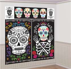 Black & Bone Scene Setters Wall Decorating Kit | Party Supplies
