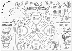 Happy Thanksgiving Paper Placemats | Party Supplies