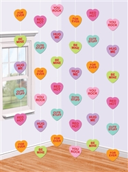 Candy Hearts String Hanging Decorations | Valentine's Day Decorations