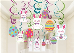 Easter Mega Value Pack Swirl Decorations | Party Supplies