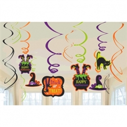 Witch Value Pack Foil Swirl Decoration | Party Supplies