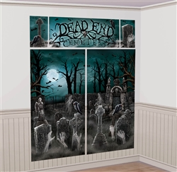 Cemetery Scene Setters Wall Decorating Kit | Party Supplies