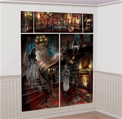 Haunted Mansion Scene Setters Wall Decorating Kit | Party Supplies