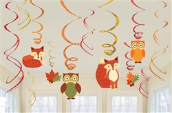 Woodland Friends Value Pack Foil Swirl Decorations | Party Supplies