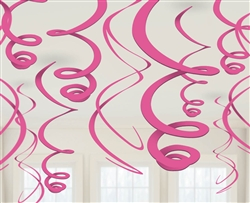 Pink Swirl Hanging Decorations | Valentine's Day Decorations