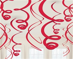 Red Swirl Hanging Decorations | Valentine's Day Decorations