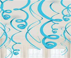 Caribbean Blue Swirl Decorations | Luau Party Supplies